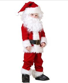 Home 7 Style Santa Claus Costume Boys Girls Halloween Costumes For Kids Christmas Carnival Disfraz Mujer New Year Party Clothing Great Varieties