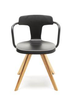 Tolix - Chaise T14 bois - Design: Patrick Norguet Collection 2014 H 760 × L 560 × P 490 mm