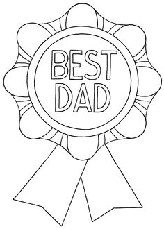 The Best Dad Ever! Father\'s Day Printable Cards | Preschool crafts ...
