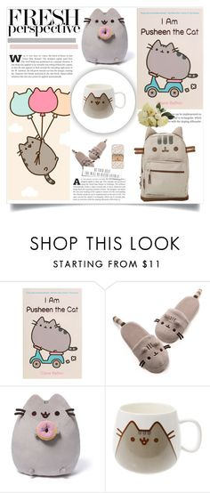 """""""Pusheen"""" by dragonflylt ❤ liked on Polyvore featuring interior, interiors, interior design, home, home decor, interior decorating, Pusheen and Gund"""