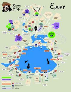 Map of Disney World's Epcot Theme Park