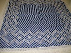 Toalha xadrez - branco e preto  Edna    Toalha quadrada - Xadrez azul e branco  Dª.Nilze    Toalha de mesa