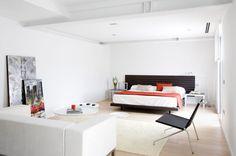 Dormitorio en blanco y luminoso #habitación