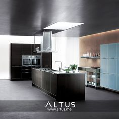 Alutema kitchen system from Euromobil, made in Italy. Luxury Furniture, Furniture Design, Kitchen Furniture, Italy, Interior Design, Home Decor, Design Interiors, Homemade Home Decor, Kitchen Units