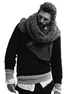 Don't underestimate the sex appeal of a scarf. Suck it up, ladies panties will drop. fact.