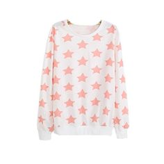 Namnoishop : 2015 #Cute Pink Long Sleeve Star Pattern Pullover Sweatshirt / The actual item's color maybe slightly different from the picture shown due to the li...
