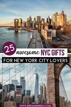 Looking for New York City gift ideas for the NYC lovers in your life? This post is going to help you to surprise them with unique New York gifts! Here is a list of 25 unique NYC gift ideas that your New York enthusiast will love Visit New York City, New York City Travel, Travel Goals, Travel Advice, Travel Guides, Travel Tips, Nyc Itinerary, Best Travel Gifts, Road Trip Usa