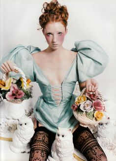 Vogue Paris, December/January 1997-98 Photographer: David LaChapelle Model: Maggie Rizer Dress by Christian Dior