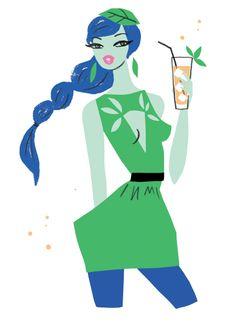 Mint Julep-illustration by Neryl Walker