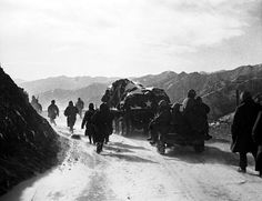 The Marines and Army retreating from the Changjin (Chosin) reservoir occurred in subzero temperatures in December 1950. The retreat was messy, unorganized and was racked with high casualties.