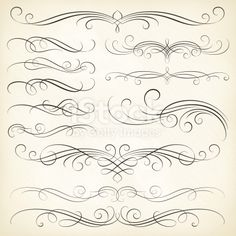 Calligraphy Swirls royalty-free calligraphy swirls stock vector art & more images of calligraphy Tattoo Fonts Alphabet, Calligraphy Fonts Alphabet, Cursive Alphabet, Hand Lettering Alphabet, Easy Caligraphy, Tattoo Lettering Styles, Chicano Lettering, Graffiti Lettering Fonts, Lettering Design