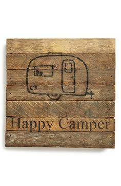Second Nature By Hand 'Happy Camper' Repurposed Wood