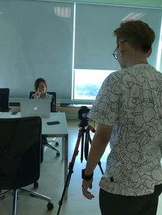 Calvin and Lili making awesome videos