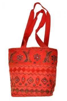 Jaipuri Embroidery Mirror Work Red College Bag  Special Price: Rs.607/- Only!! *Cash on Delivery Available
