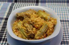 Arroz con alcachofas - Recetasderechupete.com