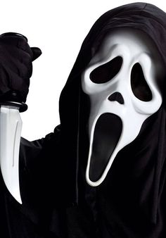 Ghost Face Mask With Knife Set