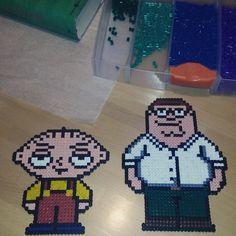 Family Guy perler beads by rakaethe1203