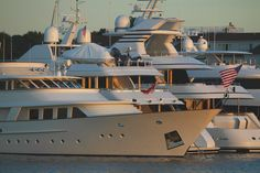 The Newport Charter Yacht Show at Newport Yachting Center #newportharbor #superyacht #megayacht #newengland