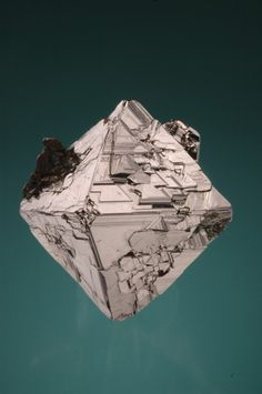 Carrollite, Locality: Democratic Republic of Congo (Zaïre)Perfect octahedral crystal of 60 mm, with chalcopyrite. Collection of the Natural History Museum of Luxembourg, ref.: Figured into the 'Catalogue of the collections of the Museum: Sulfures',
