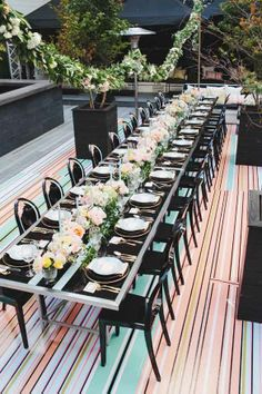 Couture Cuisine for Melissa Andre Events in Chloe Magazine Black Table, Black Chairs, Gold Cutlery, Princess Party, Decoration, Vases, Toronto, Chloe, Flowers