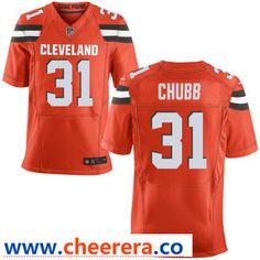691da4710 Men s Cleveland Browns  31 Nick Chubb Orange Alternate Stitched NFL Nike  Elite Jersey Baker Mayfield