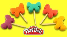 Learn Colors With Play Doh Ice Cream Popsicle Butterfly Molds Fun & Crea...
