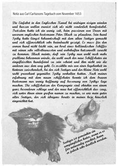 Carlszoons Notizen zu Rotbarts erster Reise II