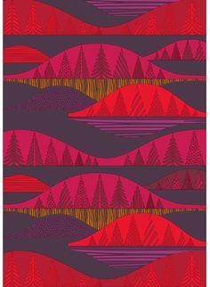'Kultakero' cotton fabric designed by Sanna Annukka for Marimekko