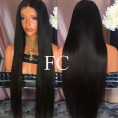 Silky Straight Human Hair Wigs Brazilian Human Hair Lace Wigs For Black Women 26 Synthetic Lace Front Wigs, Synthetic Wigs, Wig Hairstyles, Straight Hairstyles, Simple Hairstyles, Hairstyle Ideas, Hair Ideas, Liliana, Natural Hair Styles
