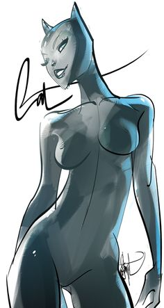 Otto Schmidt (Ok, I'm impressed by this Catwoman... sleek, sinuous! I'm NOT impressed with all the Huge T&A stuff coming out on super-female-heros, But I really like this kinda concept!)