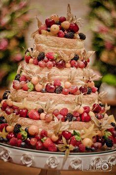 Mixed Berry Naked Cake #Dessert #CakeCakeCake Wedding Cake Rustic, Wedding Cakes, Bolos Naked Cake, Mixed Berries, Eat Dessert First, Cute Cakes, Cake Ideas, Berry, Cake Recipes
