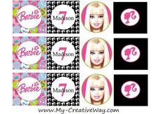 Free Barbie Cupcake Topper Printables