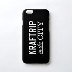 KRAFTRIP IN THE CITY Logo iPhone case  -Matte Black