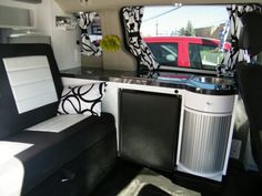 Inside Dodge Grand Caravan Camper Van for rent or to buy