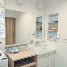 Japanese House, Washroom, Double Vanity, House Plans, Sweet Home, Mirror, Interior, Furniture, Home Decor