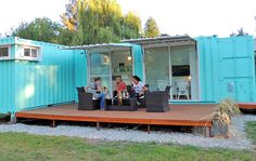 Una vivienda en Funes construida con contenedores.