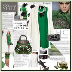 """green, white and black"" by maxi888 ❤ liked on Polyvore"