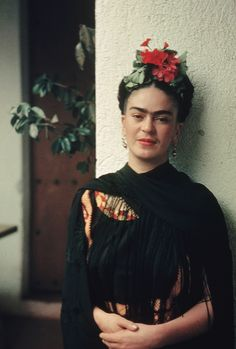 "vintagegal: "" ""My painting carries with it the message of pain."" Frida Kahlo. Photo by Nickolas Muray """
