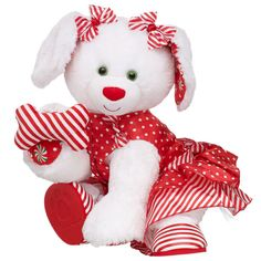 Sweet Stripes Merry Mint Pup - Build-A-Bear Workshop US $38.50