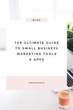 The Ultimate Guide to Small Business Marketing Tools and Apps // Steph Taylor -- Inbound Marketing, Marketing Tools, Content Marketing, Online Marketing, Social Media Marketing, Marketing Ideas, Internet Marketing, Marketing Strategies, Affiliate Marketing