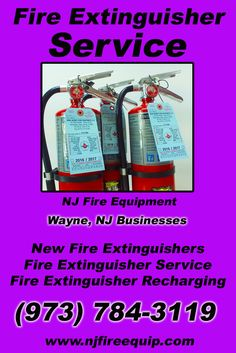 Fire Extinguisher Service Wayne, NJ (973) 784-3119We're NJ Fire Equipment.. The Main Source for Fire Protection for New Jersey Businesses. Call Today!  We would love to hear from you.
