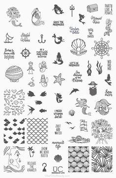 UberChic Beauty - Mermaid Life - UberChic Nail Stamping Plate, $14.99 (http://uberchicbeauty.com/products/mermaid-life-uberchic-nail-stamping-plate.html)