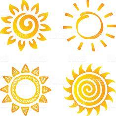 Sol, ilustração de sol e mais banco de imagens de abstrato royalty-free