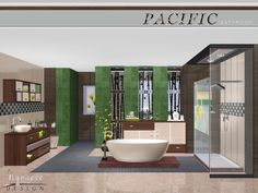 Lana CC Finds - Pacific Heights Bathroom by NynaeveDesign