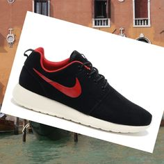Clearance-Everything Style Nike Roshe Run Premium Anthracite Black Men HOT SALE! HOT PRICE!
