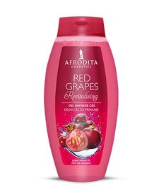 red grapes shower oil afrodita