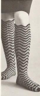 Todays Treasure Shop Talk: Crocheted Ripple Socks, Free Pattern