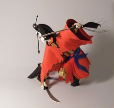 Paper Sculpture ,The Monkey King  (Sold)