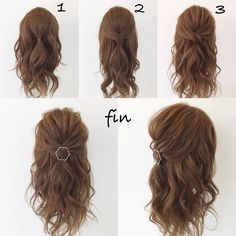 You will be called to a lot of weddings from a certain time - Langhaarfrisuren Up Hairstyles, Pretty Hairstyles, Perfect Hairstyle, Hairstyle Ideas, Easy Wedding Hairstyles, Simple Elegant Hairstyles, Medium Hair Styles, Curly Hair Styles, Hair Arrange