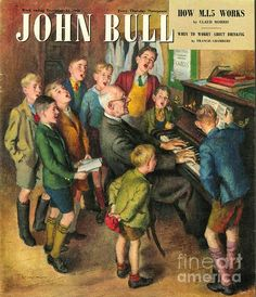 John Bull 1948 Uk School Concerts by The Advertising Archives Advertising Archives, Pulp, Family Humor, Magazine Art, Magazine Covers, Vintage Magazines, Learn To Read, Giclee Print, Singing